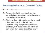 removing dishes from occupied tables4