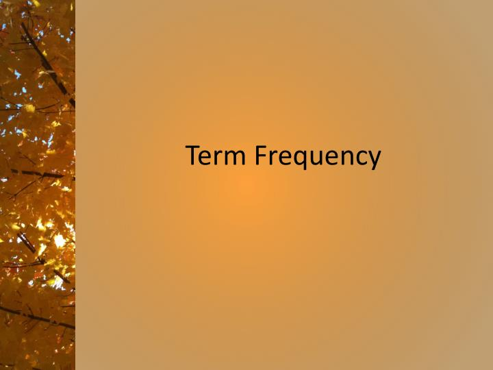 term frequency n.
