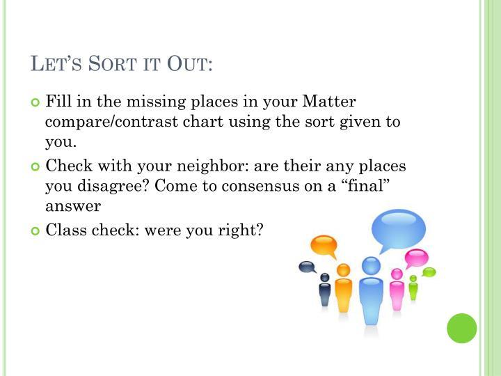 Let's Sort it Out:
