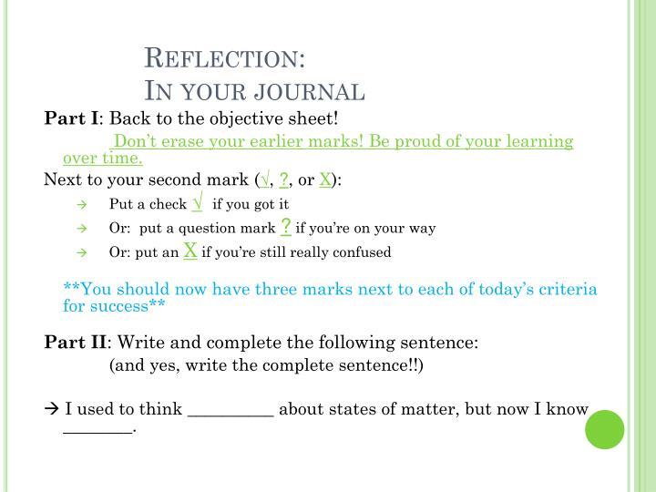 Reflection: