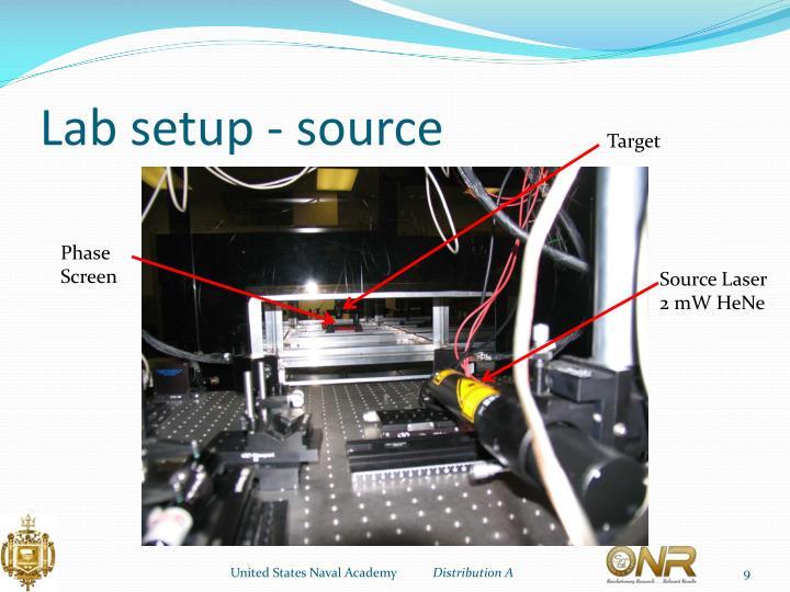 Lab setup - source
