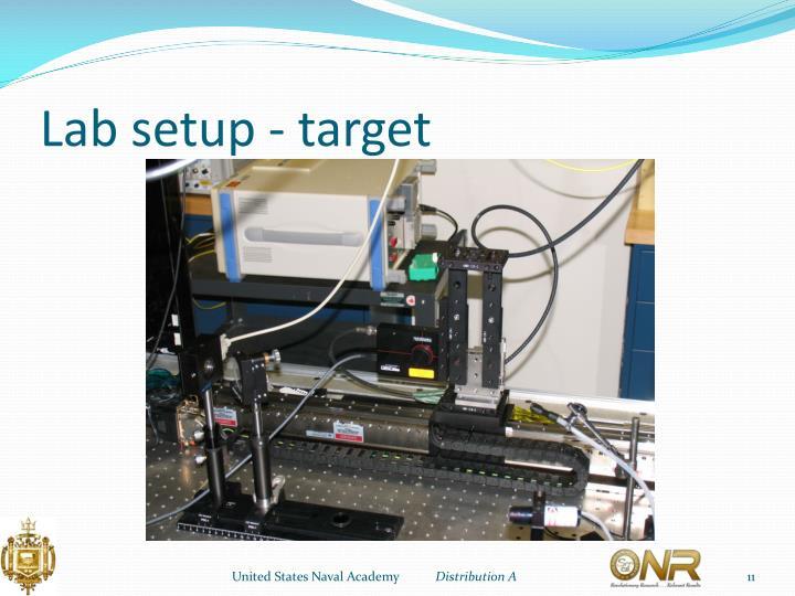 Lab setup - target