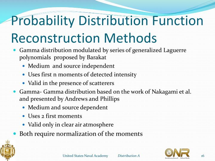 Probability Distribution Function Reconstruction Methods