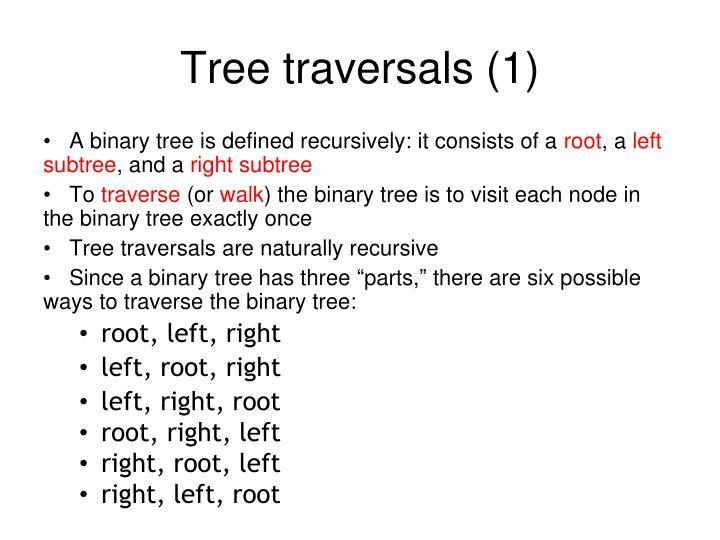 Tree traversals (1)