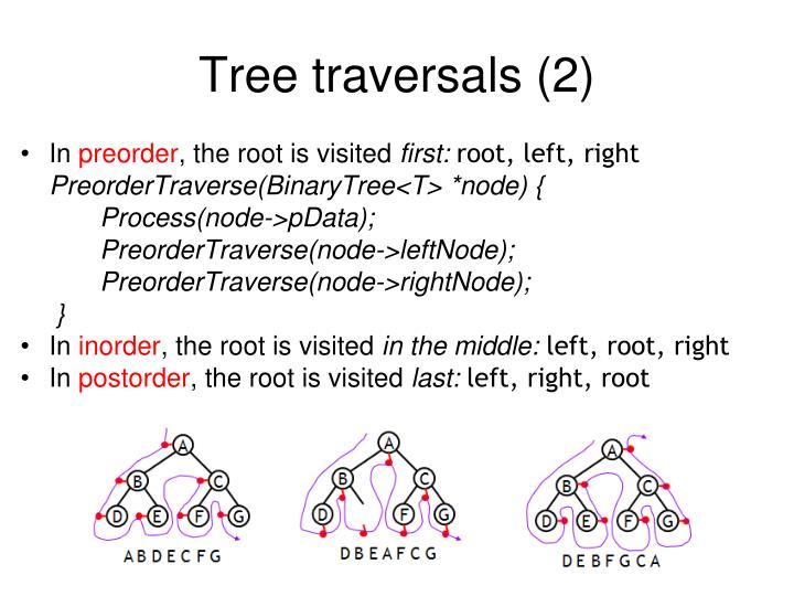 Tree traversals (2)