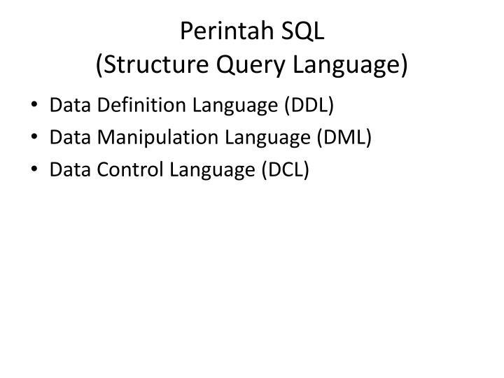 Perintah sql structure query language