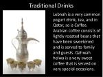 traditional drinks