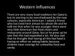western influences
