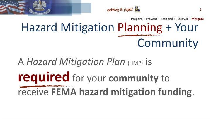 Hazard mitigation planning your community1