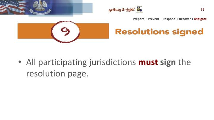 All participating jurisdictions