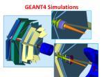 geant4 simulations