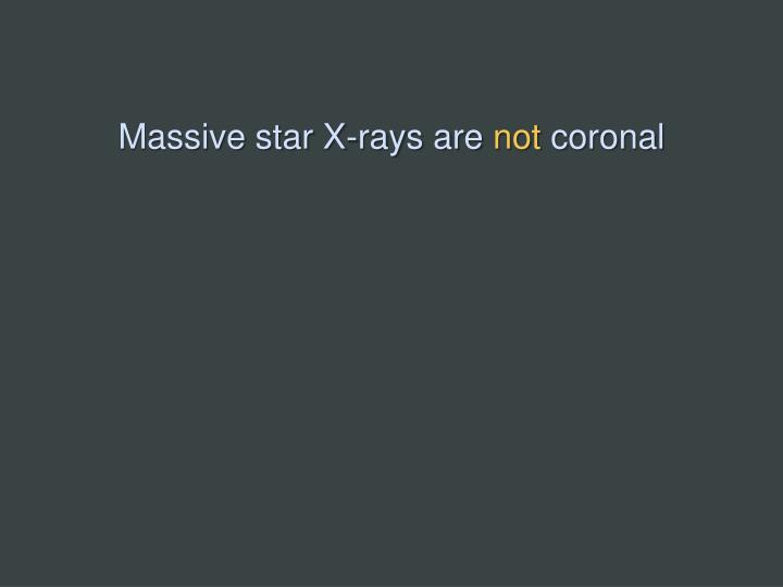 Massive star X-rays are