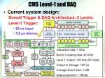 cms level 1 and daq