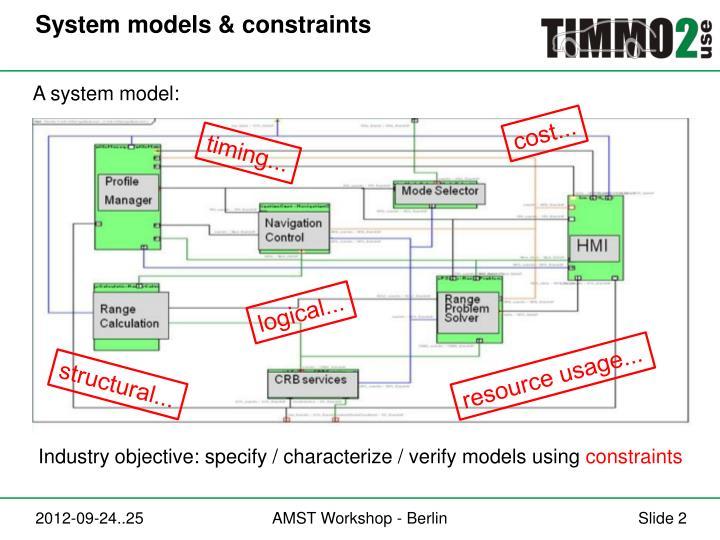 System models constraints