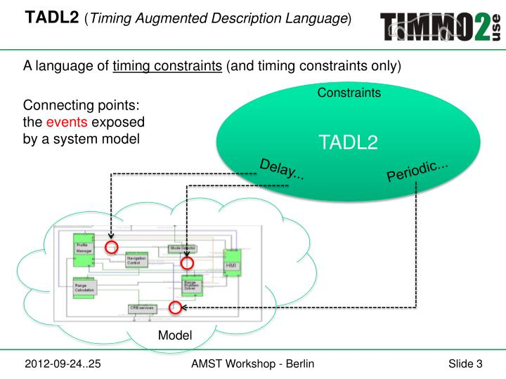 Tadl2 timing augmented description language