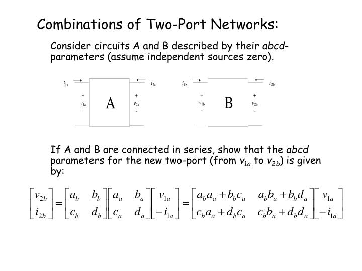 Combinations of Two-Port Networks: