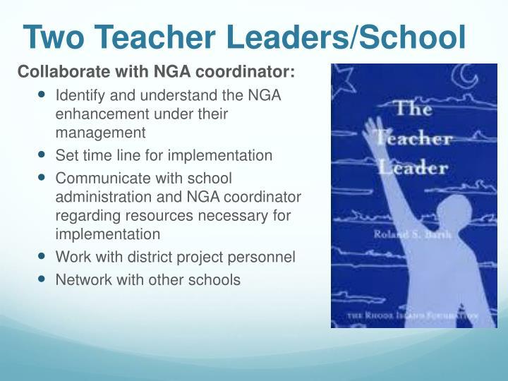 Two Teacher Leaders/School