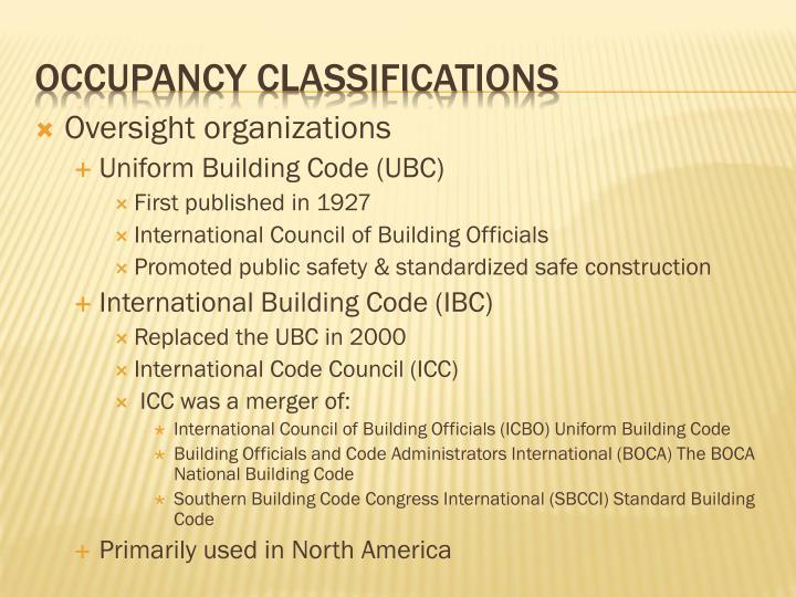 Oversight organizations
