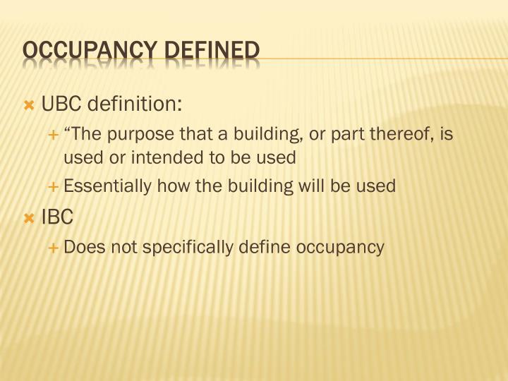 UBC definition: