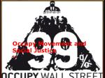 occupy movement and social justice