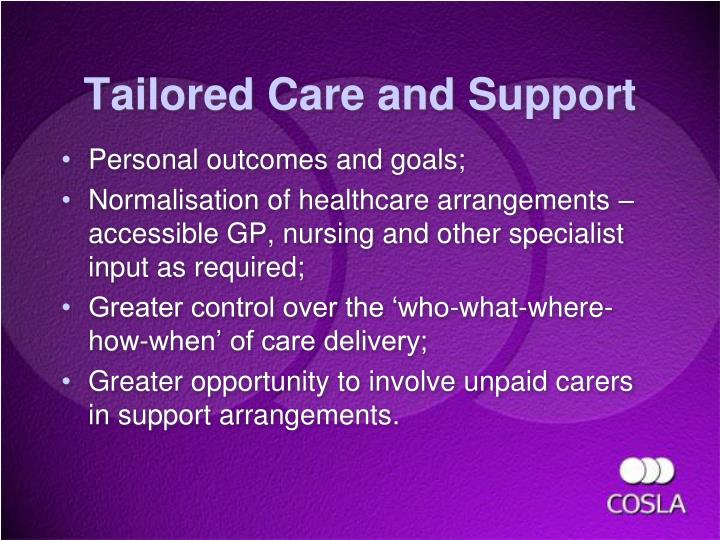 Tailored Care