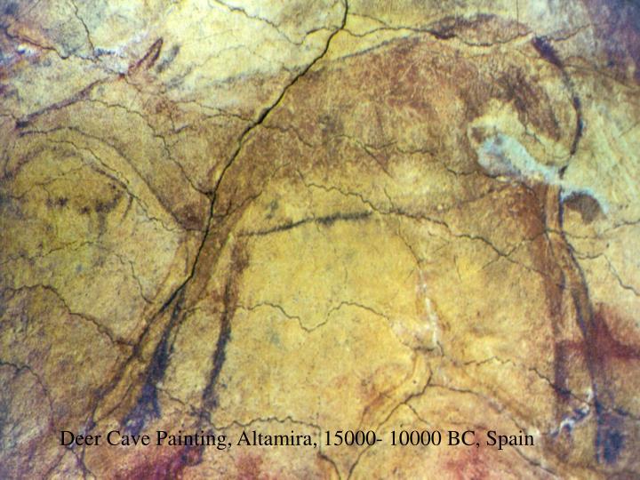Deer Cave Painting, Altamira, 15000- 10000 BC, Spain