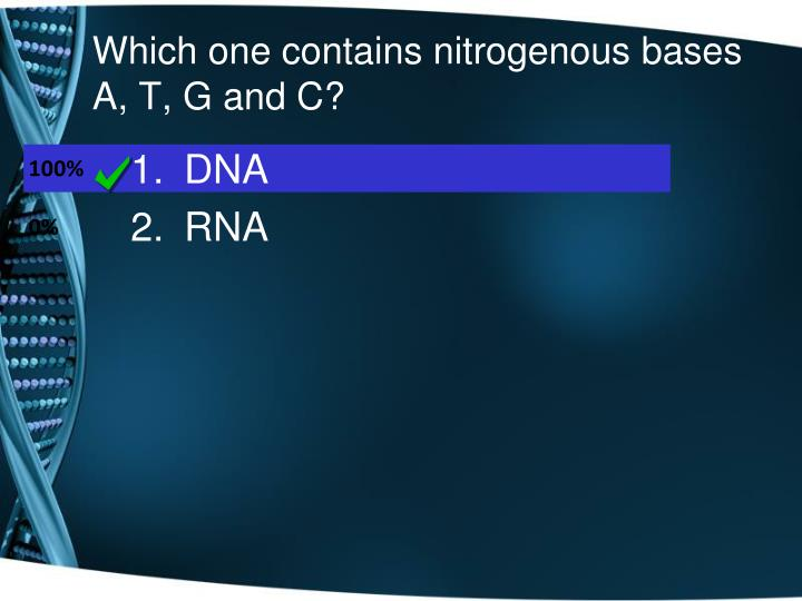 Which one contains nitrogenous bases A, T, G and C?