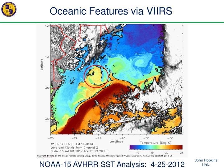 Oceanic Features via VIIRS