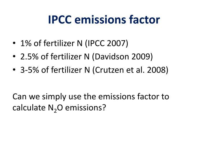IPCC emissions factor