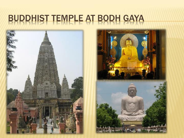 Buddhist Temple at Bodh Gaya