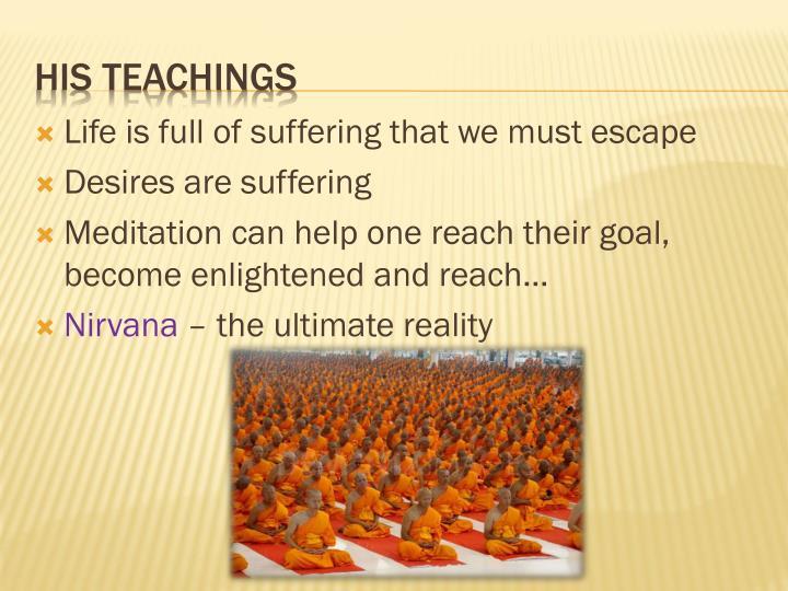 His teachings