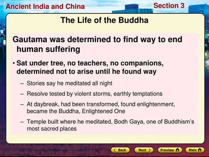 Gautama was determined to find way to end human suffering