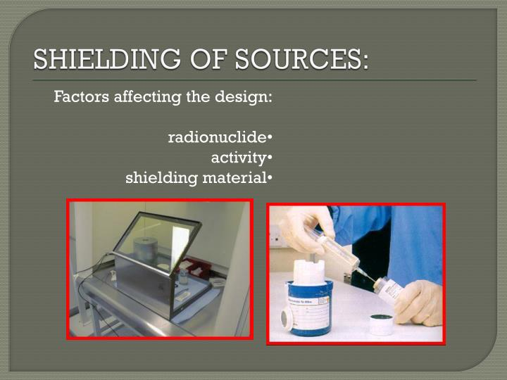 SHIELDING OF SOURCES: