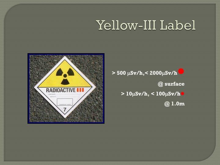 Yellow-III Label
