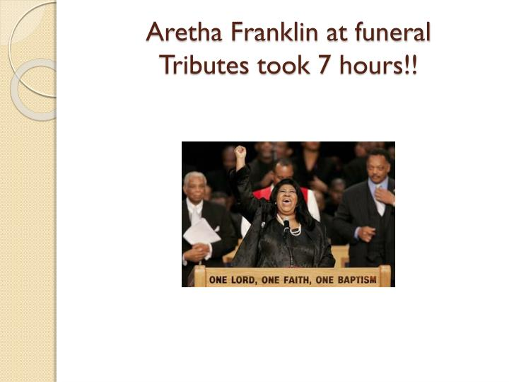 Aretha Franklin at funeral