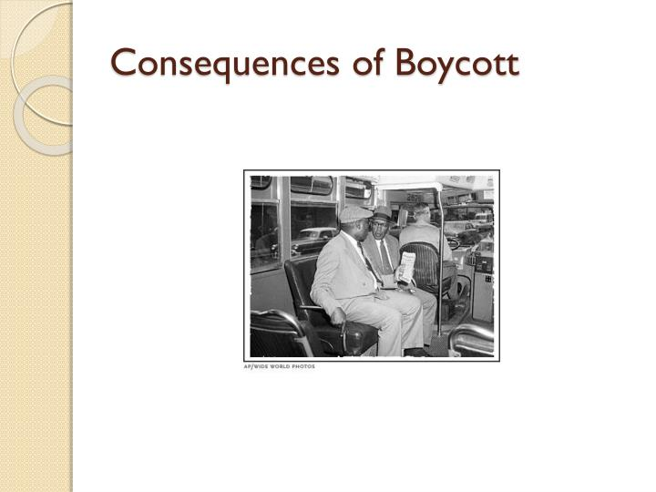 Consequences of Boycott