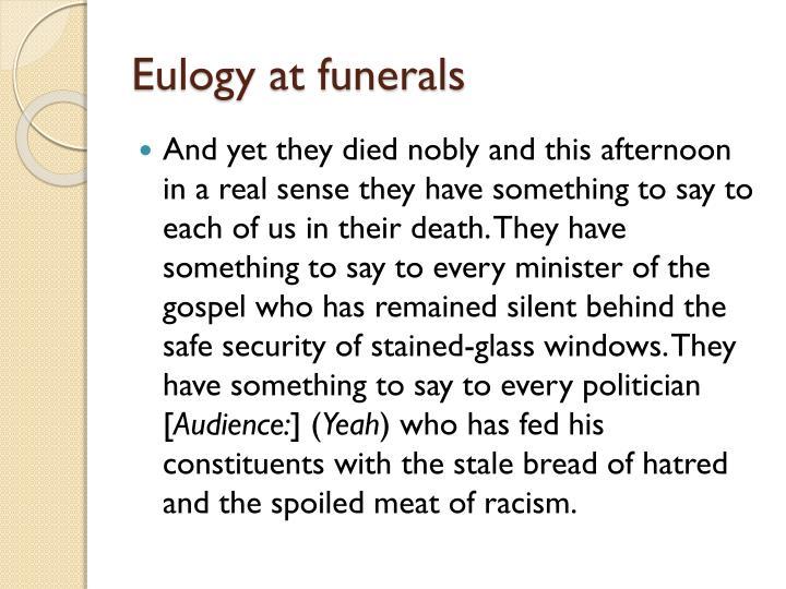 Eulogy at funerals