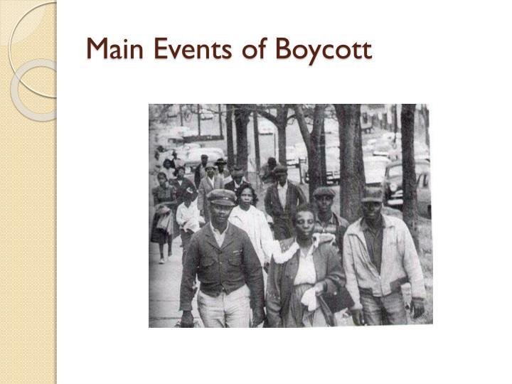 Main Events of Boycott