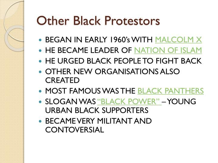 Other Black Protestors