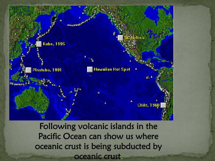 Following volcanic islands in the Pacific Ocean can show us where oceanic crust is being