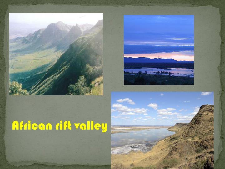 African rift valley