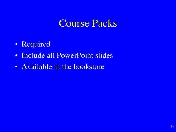 Course Packs