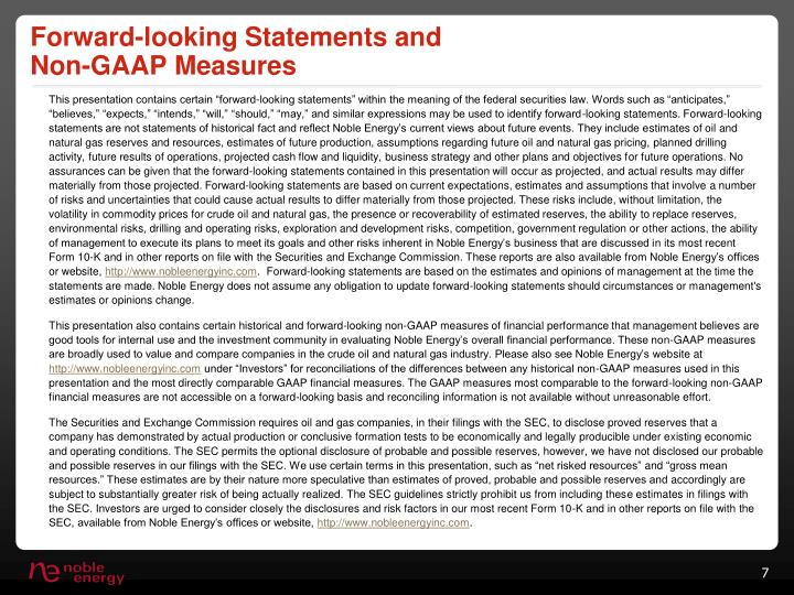 Forward-looking Statements and