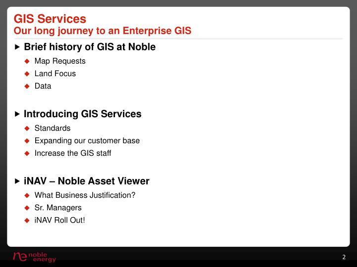Gis services our long journey to an enterprise gis
