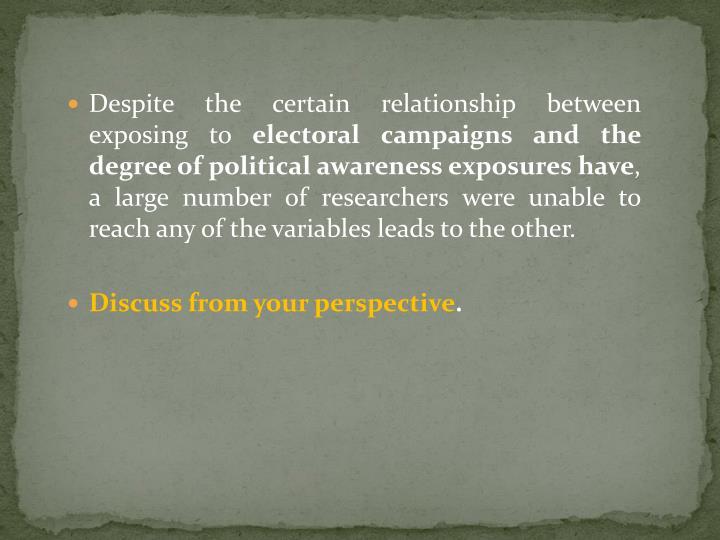 Despite the certain relationship between exposing to