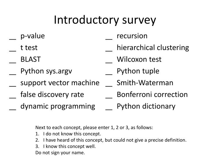 Introductory survey