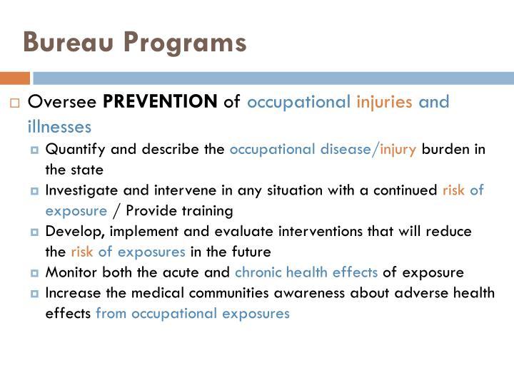 Bureau Programs