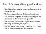 lincoln s second inaugural address