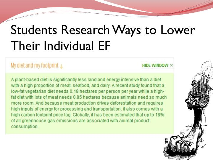 Students Research Ways to Lower Their Individual EF