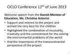 ciclo conference 12 th of june 201311
